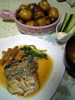 夕飯:さばの味噌煮