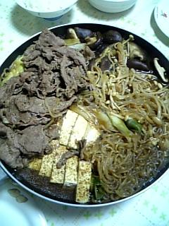 夕飯:すき焼き